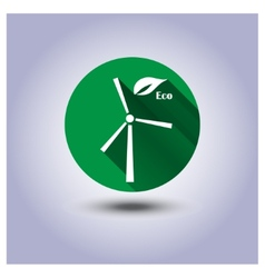 Eco icon sticker vector image vector image
