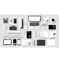 Mock Up set of corporate identity and branding vector image vector image