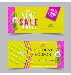 spring sale coupon vector image