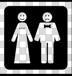 wedding emotions rounded square vector image
