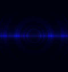 blue circle abstract background vector image