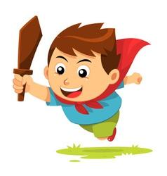 Boy In Action vector image