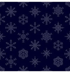 various types of outline white snowflakes seamless vector image vector image