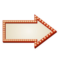 arrow lights sign vector image vector image