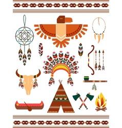 Aztec decorative elements vector image vector image