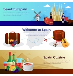 Spain Welcome Travelers Banners Set vector image vector image