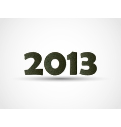 2013 HAPPY NEW YEAR GRASS vector image