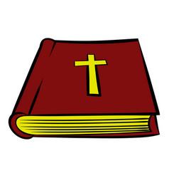 bible book icon icon cartoon vector image vector image