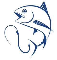 fishing tuna vector image