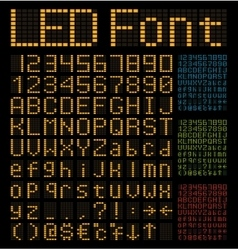 LED Alphabet and Numbers vector image