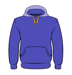 men hoodies icon cartoon vector image