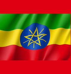 national flag of ethiopia vector image vector image