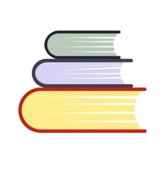 Pile of books flat icon vector image