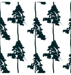 seamless pattern with pine tree vector image vector image