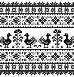 Ukrainian or belarusian slavic folk art knitted vector