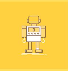 Autonomous machine robot robotic technology flat vector