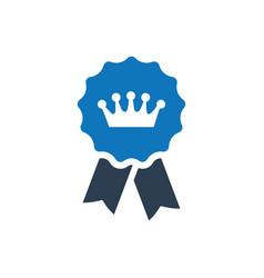 Award badge icon vector