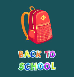 Back to school bag poster vector
