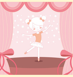 beautiful ballerina ballet on stage vector image
