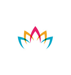 beauty lotus icon vector image