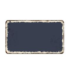 blanked vintage rusty metal plate vector image