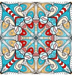 Bright mandala seamless pattern vector image