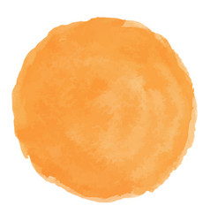Bright peach watercolor painted stain vector