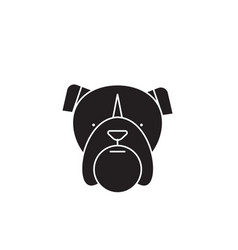 bulldog head black concept icon bulldog vector image