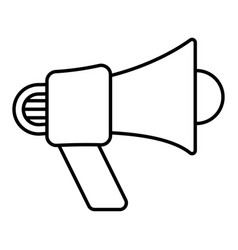 Bullhorn electric megaphone - line art icon vector