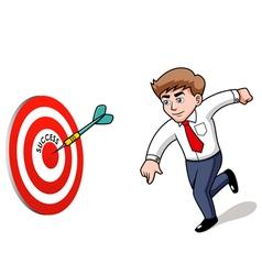 Businessman success vector image