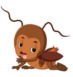 cartoon cockroach sick vector image