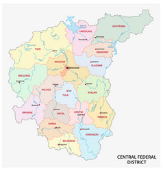 Central federal district administrative and vector