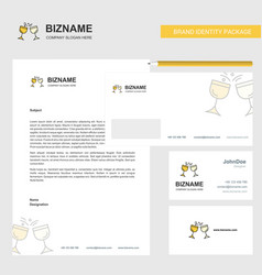 cheers business letterhead envelope and visiting vector image
