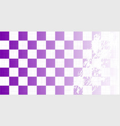 Chequered purple grunge vector