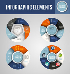 Circle infographics set 1 vector