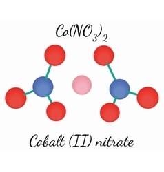 Cobalt II nitrate CoN2O6 molecule vector image