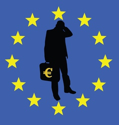 concern for the survival of the euro vector image