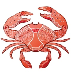 Decorative isolated crab vector