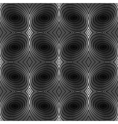 Design seamless stripy ellipse geometric pattern vector