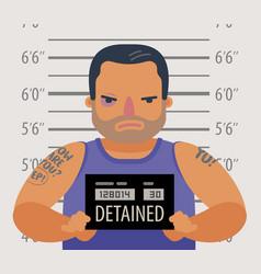 Detained dangerous criminal prisoner convicted vector