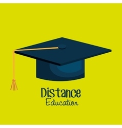 distance education isolated icon design vector image