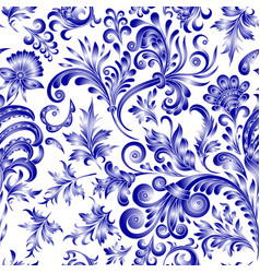 Doodle paisley seamless pattern gradient floral vector