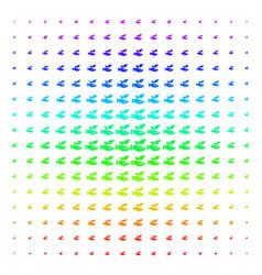 eco startup hand icon halftone spectrum grid vector image