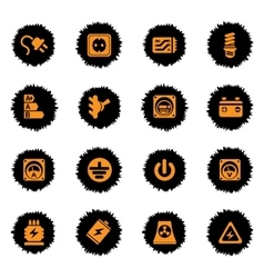 Electricity icons set vector image