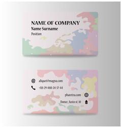 Elegant template business card vector