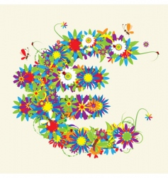 Euro floral design vector image