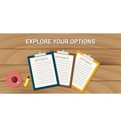 Explore your options business problem choice vector