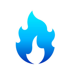 fire flames new blue icon for you vector image