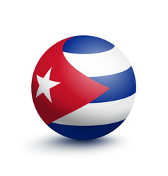 flag of cuba in the form of a ball vector image