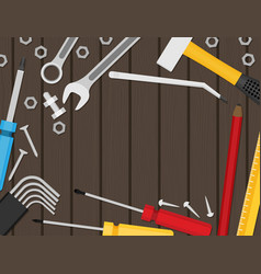 Flat repair icon set mechanic service concept vector
